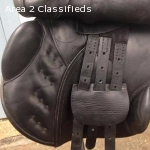 "County Conquest 17.5"" MN jump saddle w/fittings"