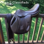 SLIGHTLY USED Ovation Lugano XCH Eventing Saddle Bundle
