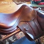 "Very Lightly Used 18"" CWD Monoflap Jump Saddle"