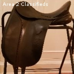 "18"" Bates Caprilli Dressage Saddle with CAIR/gullet system"