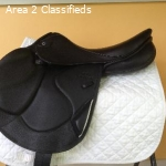 Virtually New Stubben Zaria Optimum Jump Saddle 17.5/27